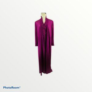 Vintage Nightgown and Housecoat Purple Ruffle